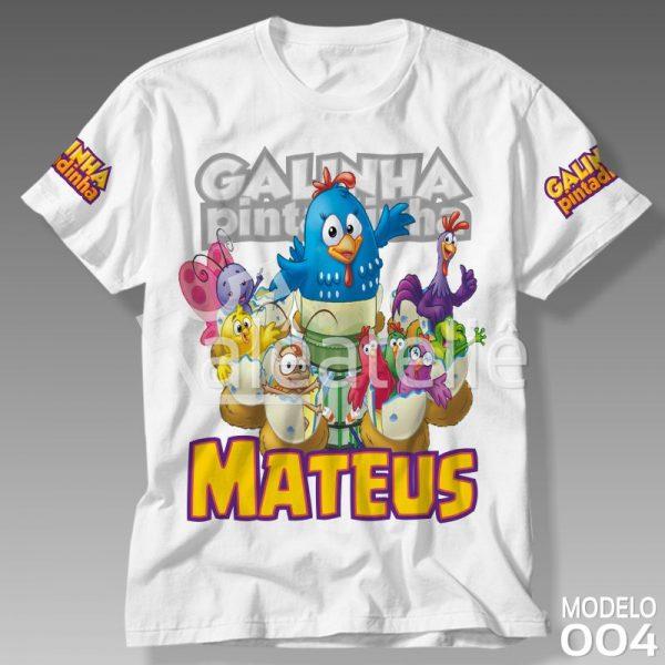 Camiseta Turma Galinha Pintadinha
