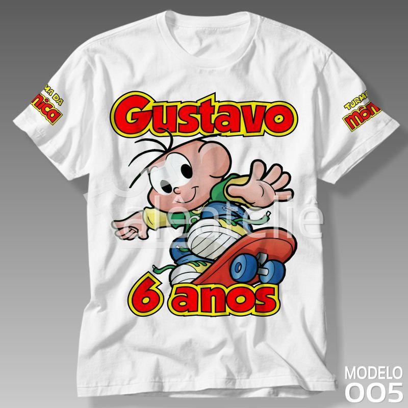 Camiseta Cebolinha Personalizada