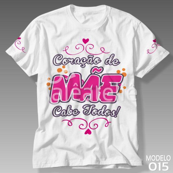 Camiseta Dia das Mães Coração