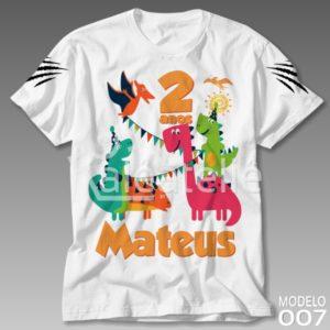 Camiseta Dinossauros Infantil