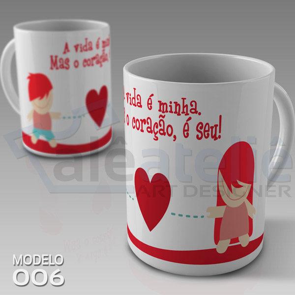 Caneca Dia Namorados Coração