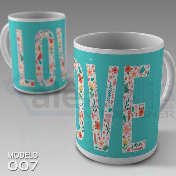 Caneca Dia Namorados Love