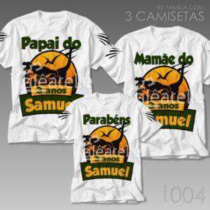 Kit 3 Camisetas Dinossauro 004