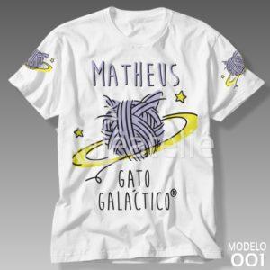Camiseta Gato Galáctico 001