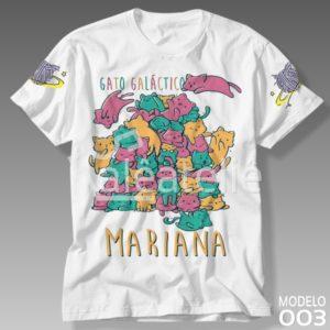 Camiseta Gato Galáctico 003
