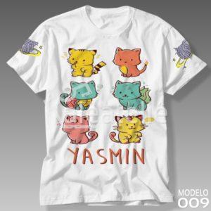 Camiseta Gato Galáctico 009