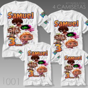 Kit 4 Camisetas Mini Beat Power Rockers