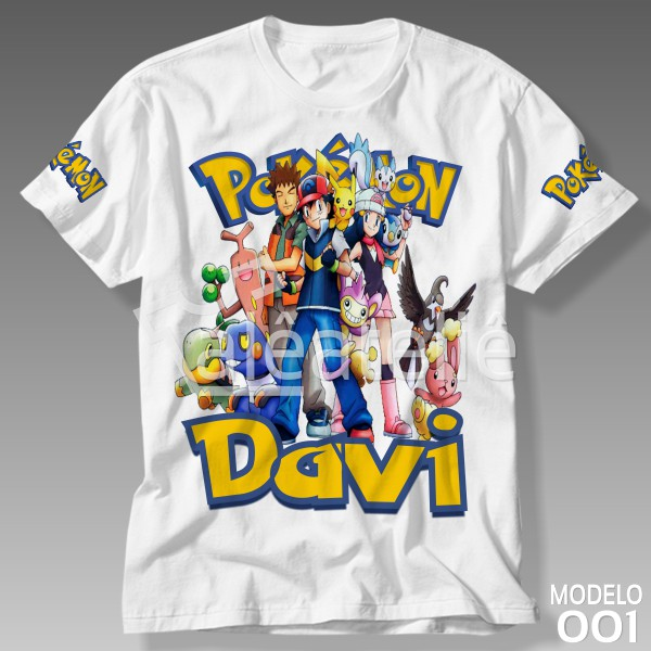 Camiseta Pokemon Personalizada