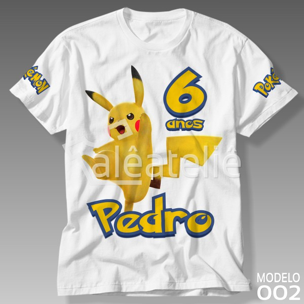 Camiseta Pokemon Pikachu
