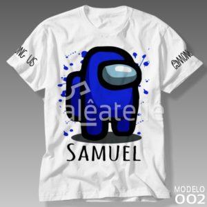 Camiseta Among Us Azul