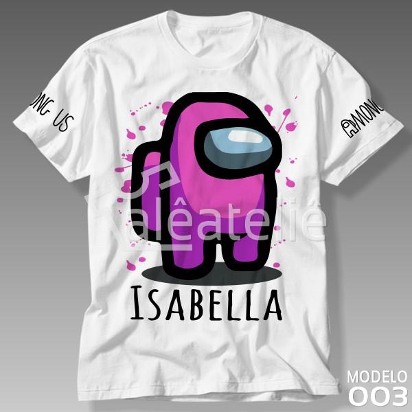Camiseta Among Us Rosa