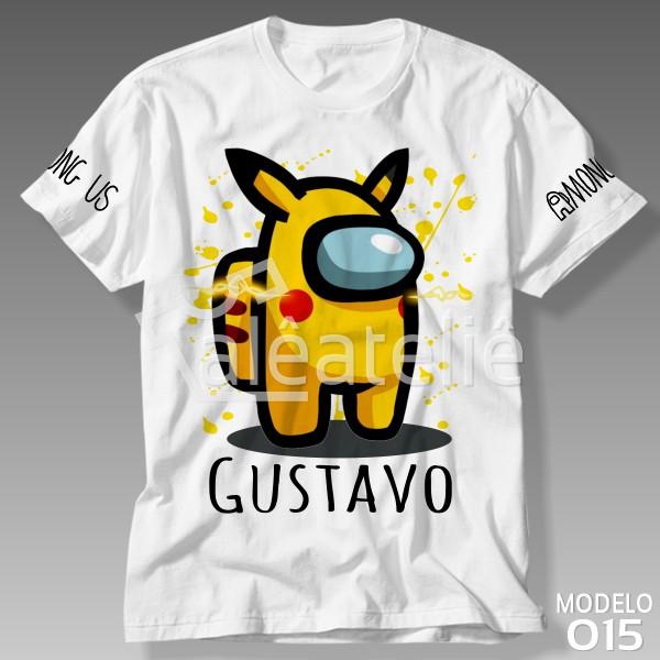 Camiseta Among Us Pikachu