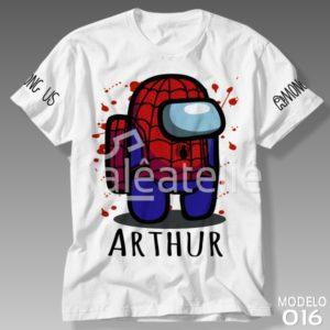 Camiseta Among Us Homem Aranha