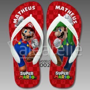 Chinelo Mario Bros Luigi