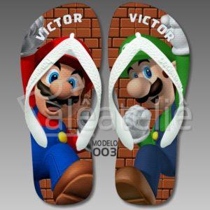 Chinelo Luigi Mario Bros