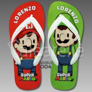 Chinelo Super Mario Luigi