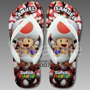 Chinelo Toad Mario Bros