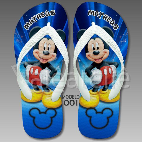 Chinelo Personalizado Mickey Mouse