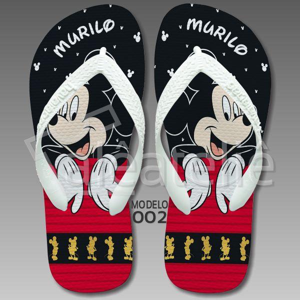 Chinelo Mickey Personalizado