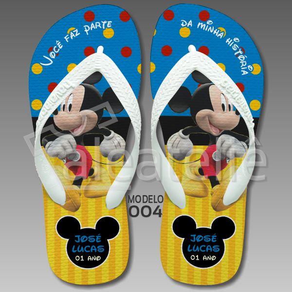 Chinelo Mickey Festa