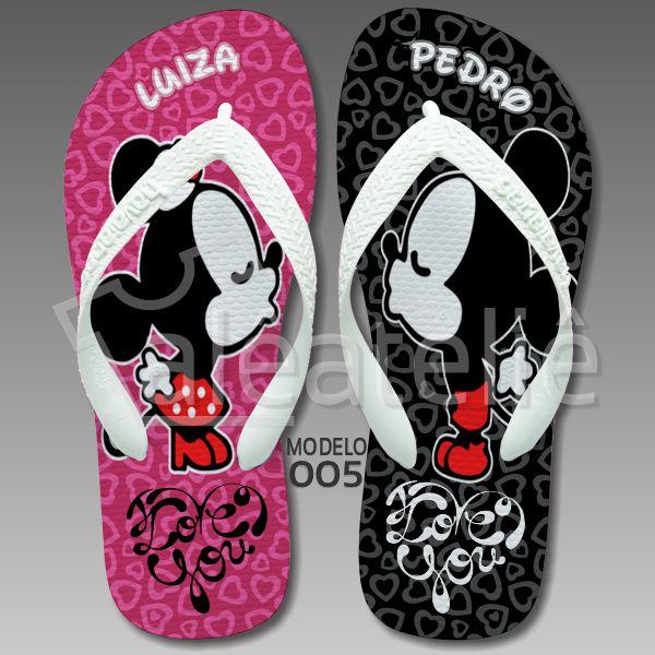 Chinelo Mickey Minnie Disney