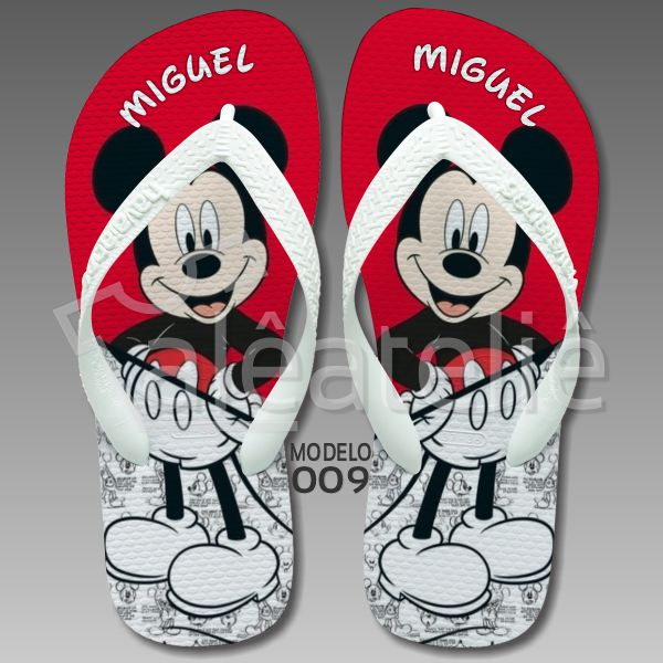 Chinelo Mickey Mouse Personalizado