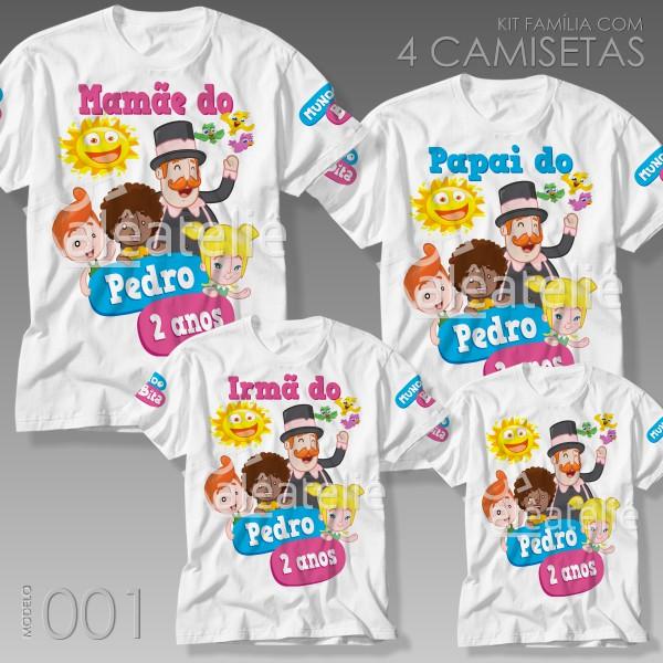 Kit 4 Camisetas Mundo Bita