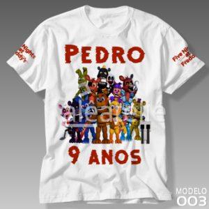 Camiseta Five Nights at Freddy Festa Infantil