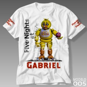 Camiseta Five Nights at Freddy Chica