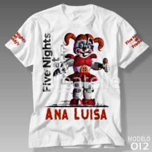 Camiseta Five Nights at Freddy 012