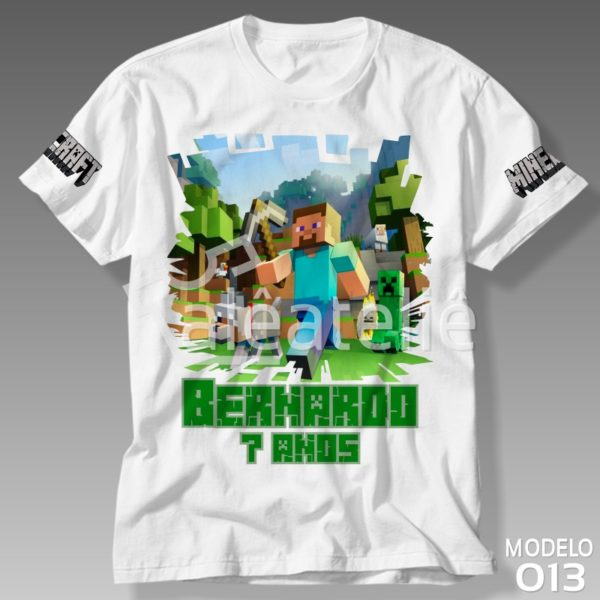 Camiseta Minecraft Festa Infantil